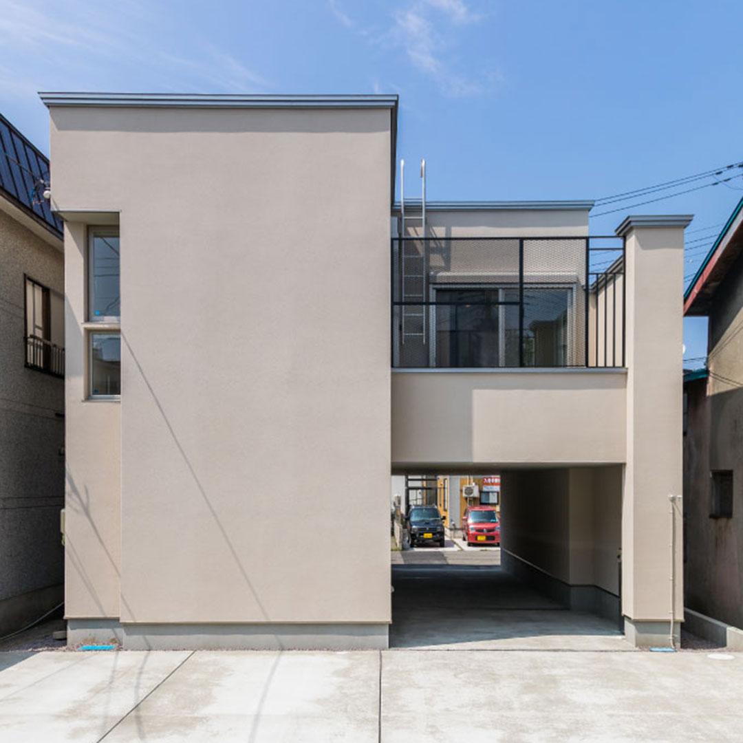 筒の家(壁式ピロティハウス)